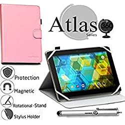 "Navitech pink 360 Rotational Case Cover For Fire Tablet with Alexa, 7"" Display, 8 GB, Black, Blue, Magenta, Tangerine"