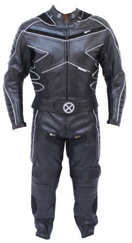 (2pc X-MEN Motorcycle leather Racing Riding Track Suit CE Armor New w/)