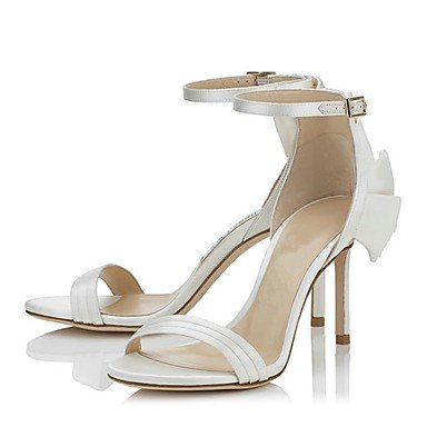 LvYuan Mujer-Tacón Stiletto-Otro-Sandalias-Boda Oficina y Trabajo Vestido Informal Fiesta y Noche-Satén-Blanco White