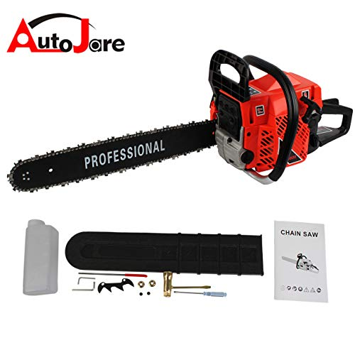 Miracle Professional Gas Chainsaw, 20″ Bar, 2 Cycle, 52cc, 2 Stroke, Cordless Chainsaw Cutting Wood
