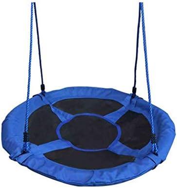 折りたたみスイング 子供用スイング玩具室内用屋外UFOスイングを接続する子供用の調整可能なストラップの木または既存のスイングセット大人と青少年(青) 調整可能なスイング