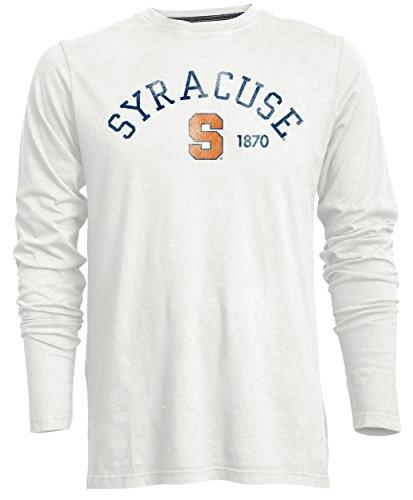 Camp David Men's NCAA Syracuse Orange Signature Crew Neck Long Sleeve Tee, Ivory - XX-Large ()