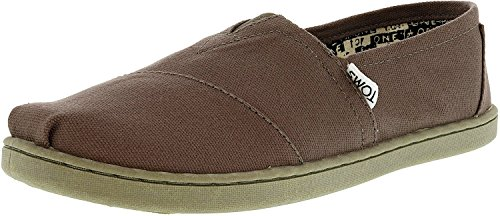 Toms Ash/Grey Classic Canvas Youth, Size