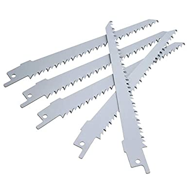 Power Tools 5pcs 6 150mm Extra Sharp HCS Reciprocating Sabre Saw