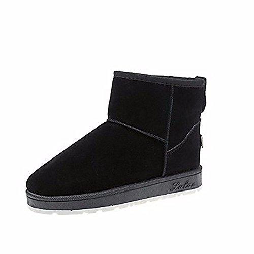 Pour Chaussures Femmes eu39 Gris Noir Rond uk6 Un D'automne us8 Neige black Zhudj Bottes cn39 Bout De A5FqS