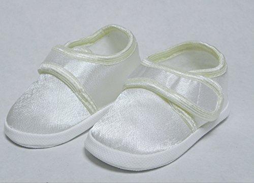 Taufschuhe Taufe Babyschuhe Sandalen Creme Gr.10-13 OM-305 (10cm)