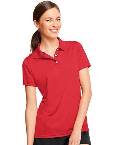 Hanes Women's Cool Dri Sportshirt, XXX-Large, Deep - Red Women Polo