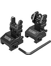 Feyachi Flip Up Sights Front and Rear Iron Sites ( Tool Free Adjustment ),Backup Sight Set