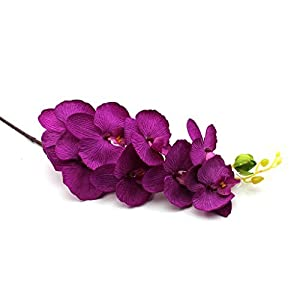 VANKRE 1Pc Purple- Artificial Butterfly Orchid Silk Flower Home Wedding Party Decoration 82