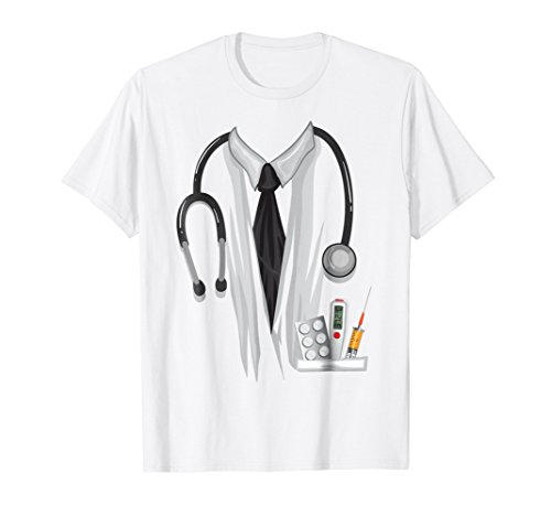 Mens Doctor Halloween Costume Shirt - Great Nurse Outfit Gift Tee 2XL White