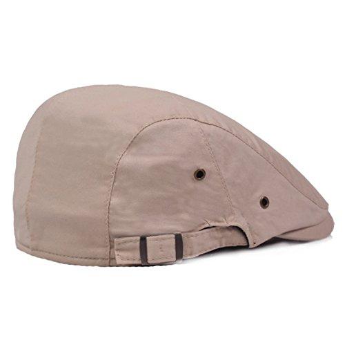 TREESTAR Simple Monochrome Spring Autumn Duckbill Cap Unisex Outdoor Leisure Sun Hat Flat Cover Newsboy Beret Driver Cotton Hat 1Pcs