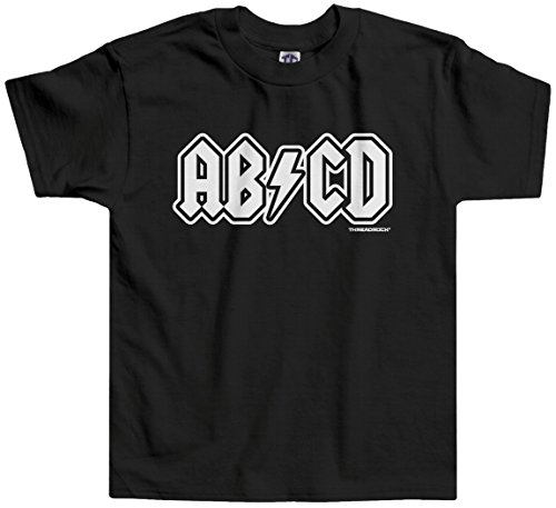 Threadrock Little Boys' ABCD Toddler T-Shirt 3T - Rock Shirt Girls Toddler