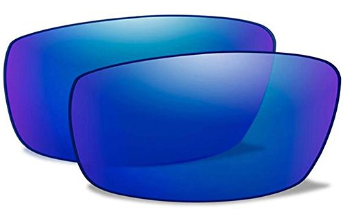Wiley X WX AIRRAGE Authentic Replacement Lenses (Polarized Blue Mirror (Green) - Sunglasses Wholesale Authentic