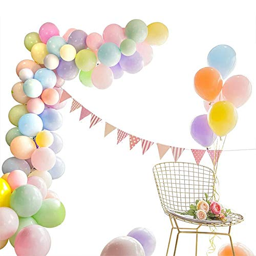 JAYKIDS Party Balloons, 10 Inches Assorted Color Pastel Balloons for Wedding, Baby Shower, Kids Birthday, Gradation, Christmas Anniversary Arch Supplies (104 Pcs) -