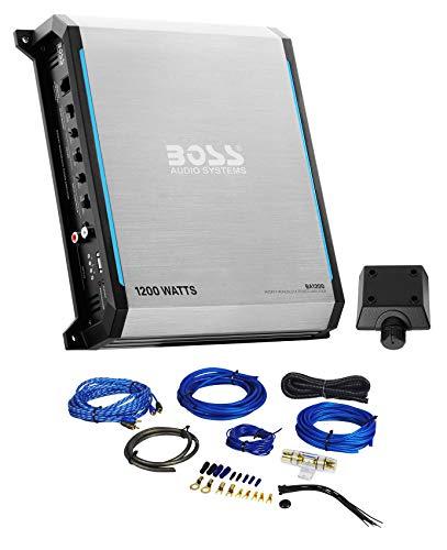 Boss BA1200 1200 Watt Car Audio Mono Amplifier Class A/B 2-Ohm+Amp Wire Kit