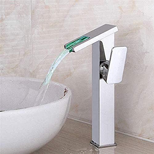 HXC-HXC キッチンSinkbrassクロームホットとコールドシングルレバー滝流域の水栓浴室のシンクの蛇口ゴールド/シルバー/ブラック/セラミック/Chromeのタップ 蛇口