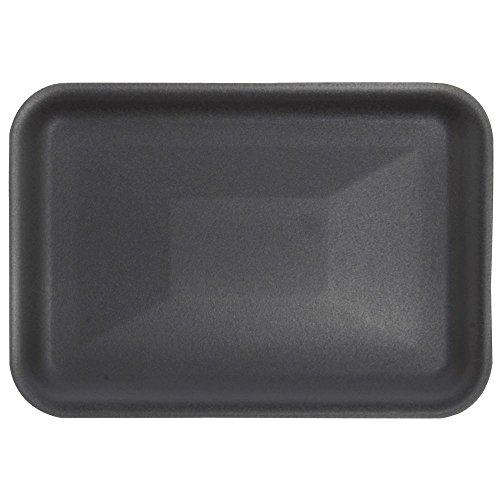 Black Foam Meat Tray - Foam Meat Trays Produce Trays Black - 8 1/4 L x 5 3/4 W x 5/8 H 500 per Case