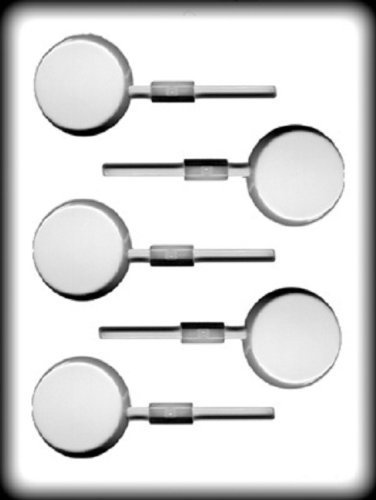 Pieces Hard Candy - 8H-5207 2 Flat Round Sucker Hard Candy Mold - 3 Count by PREEGLE