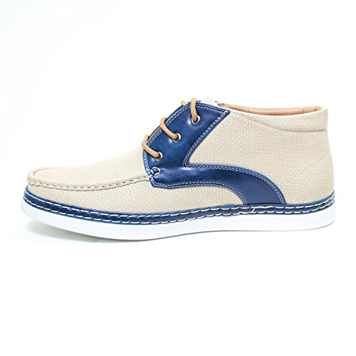 Arider 38056 Zapatillas Informales Para Hombres De Tacón Alto Beige / Azul Marino