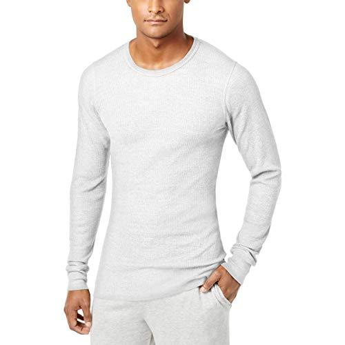 Alfani Mens Traditional Waffle Basic T-Shirt, White, Large from Alfani