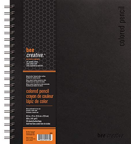 """Bee Paper Company Bee Paper Bee Creative Colored Pencil Book, 8-1/2""""-by-11, 8-1/2x11"""