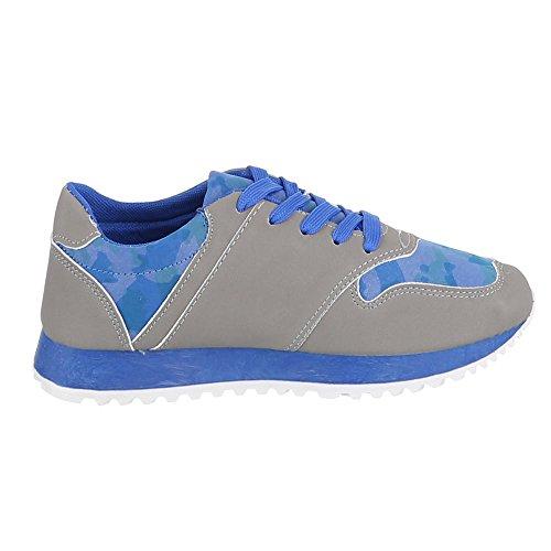 Ital-Design - Zapatillas de casa Mujer Gris - gris azul