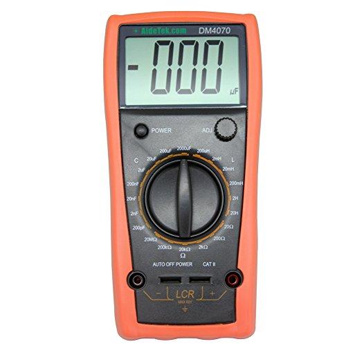 AideTek DM4070 LCR meter multimeter tester capacitance Inductance Resistance self-discharge compared with FLUKE