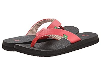 Sanuk Women's Yoga Mat Flip-Flop (7 B(M) US, Watermelon.)
