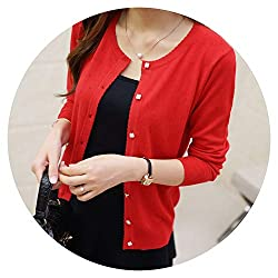 Short Thin Cardigan Women S Sunscreen Air Conditioning Shirt Sweater Knitted Outerwear Cape R8 M