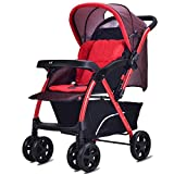 Stroller Quick Fold Pushchair High Landscape With Sun Shade Baby Stroller,D
