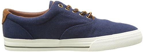 Polo Ralph Lauren Mens Vaughn Moda Lino Sneaker Indaco