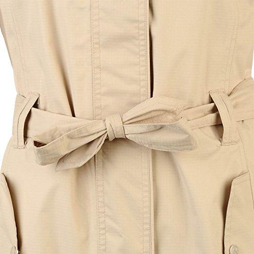 Gelert Womens Fairlight Jacket Top Coat Waterproof Hooded Full Zip Waist Belt Beige 12 (M) by Gelert (Image #2)