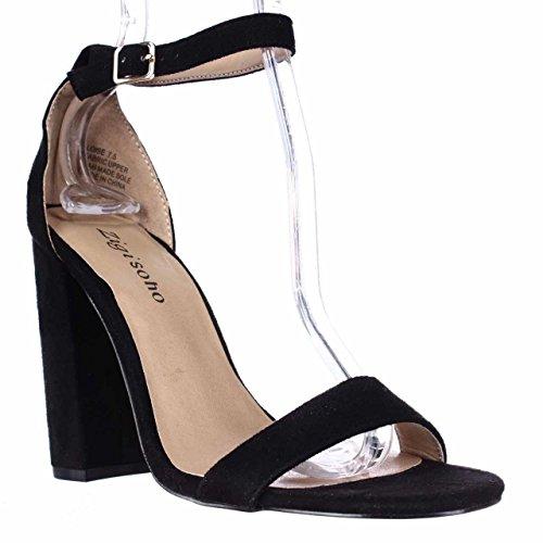 (Zigi Soho Loise Ankle Strap Block Heel Sandals - Black, 7.5 M US)