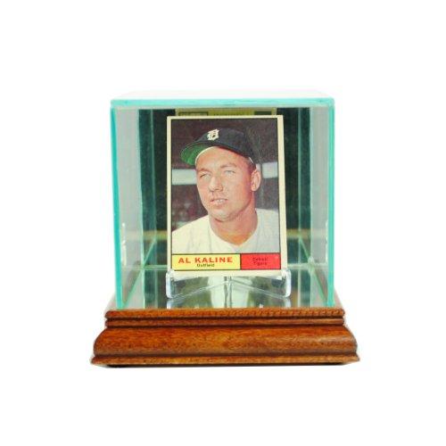 (Perfect Cases MLB Single Card Glass Display Case, Walnut)
