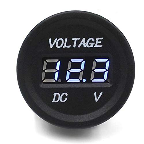 Car Motorcycle Waterproof LED Digital Display Voltmeter 12V-24V DC (Black) MTSZZF