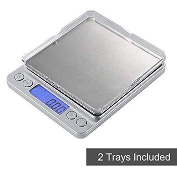 Báscula digital de cocina para alimentos M con multifunción para cocinar joyas, precisión de peso de 0,01 g y máx. 500 g: Amazon.es: Hogar