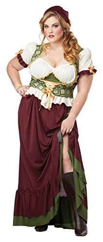 Renaissance Wench Adult Plus Size Costume (2X) (Plus Size Renaissance Wench Costume)