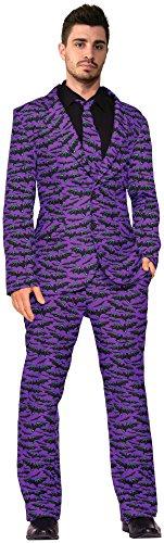 Mens Halloween Suits (Forum Novelties Men's Bat Suit and Tie Xl Costume, Purple, X-Large)