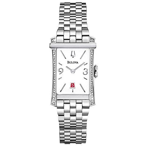 - Bulova Diamond White Dial Stainless Steel Ladies Watch 96R187