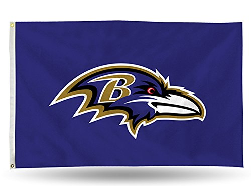 - Baltimore Ravens Rico 3x5 Flag w/grommets Outdoor House Banner Football
