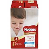 Huggies Little Snugglers Baby Diapers, Size 3, 124 Count...