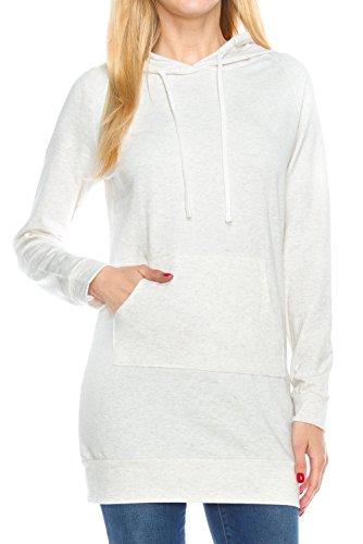 Womens Raglan Sleeve Hoodie Kangaroo