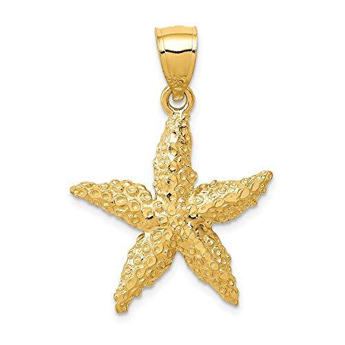 14K Yellow Gold Starfish Pendant from Roy Rose Jewelry