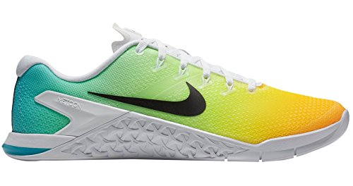 NIKE Men's Metcon 4 Training Shoe White/Black-lagoon Pulse