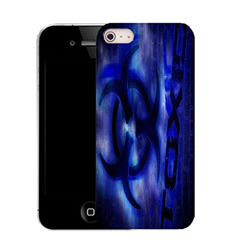 Mobile Case Mate IPhone 4s clip on Silicone Coque couverture case cover Pare-chocs + STYLET - blue toxic pattern (SILICON)