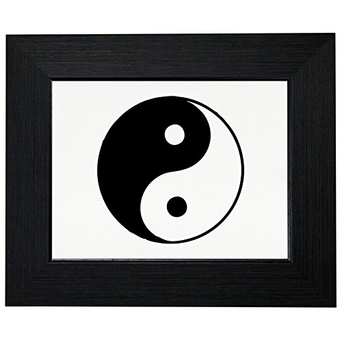 - Royal Prints Yin & Yang - Chinese Philosophy Symbol for Natural Harmony Framed Print Poster Wall or Desk Mount Options