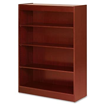 Lorell 89052 4 Shelf Panel Bookcase, 36 x12 x48 , Cherry