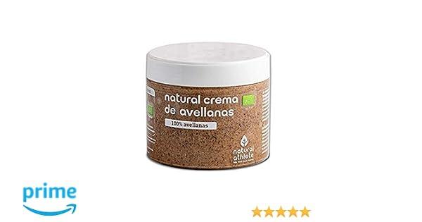 Crema de Avellanas BIO -Natural Athlete- 100% solo Avellanas - 100% natural y orgánico- sin azúcar añadido - sin gluten - sin lactosa y sin aditivos.300 gr: ...