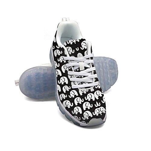Faaerd Éléphant Mignon Impression-01 Hommes Respirant Coussin Dair Mesh Chaussures Mode Casual Gymnase Marche Athlétique Chaussures De Course Sport