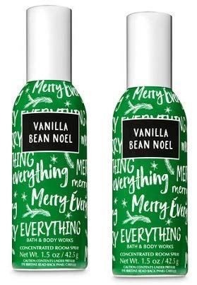 Bath and Body Works 2 Pack Vanilla Bean Noel Concentrated Room Spray 1.5 Oz.